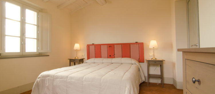 Lallina red bedroom
